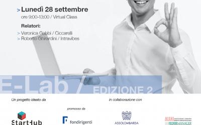 """E-Lab, """"Costruisci e vendi la tua idea di business"""""""