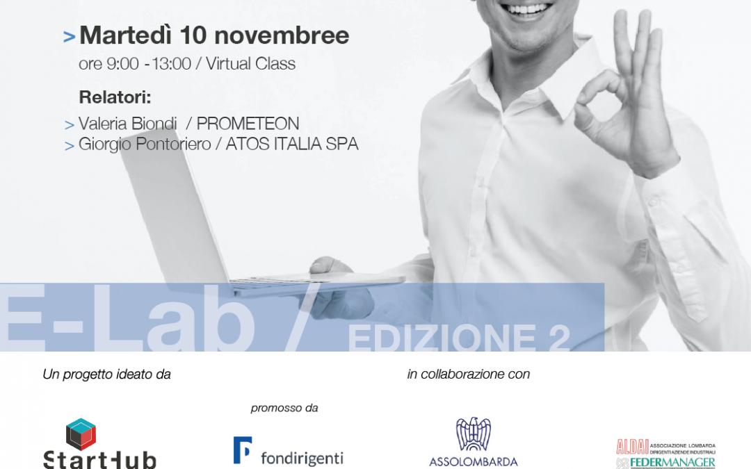 E-Lab. Appuntamento con PROMETEON e ATOS ITALIA SPA