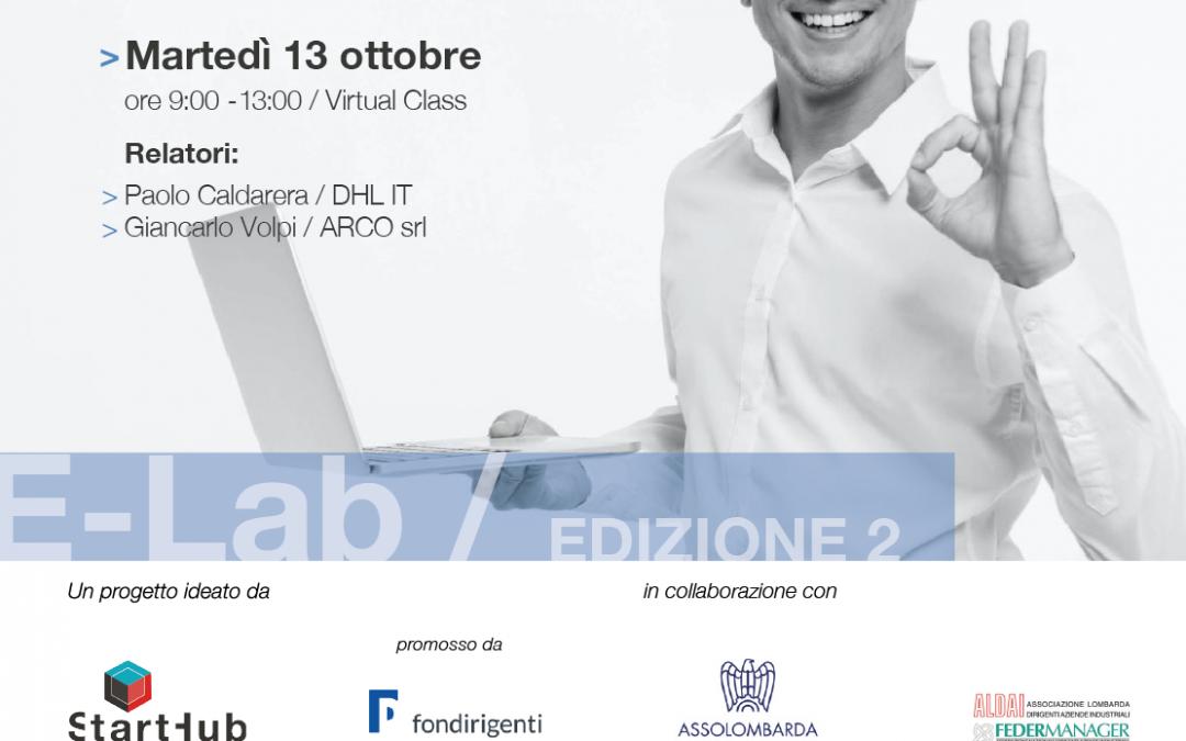 E-Lab, incontro con DHL e Arco srl