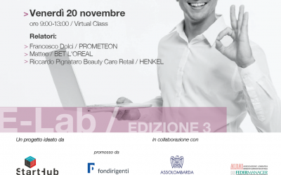 E-lab, appuntamento con PROMETEON, L'OREAL ed HENKEL