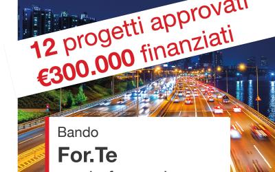 Graduatorie Bando For.Te. 12 progetti approvati, 300mila € per i nostri clienti