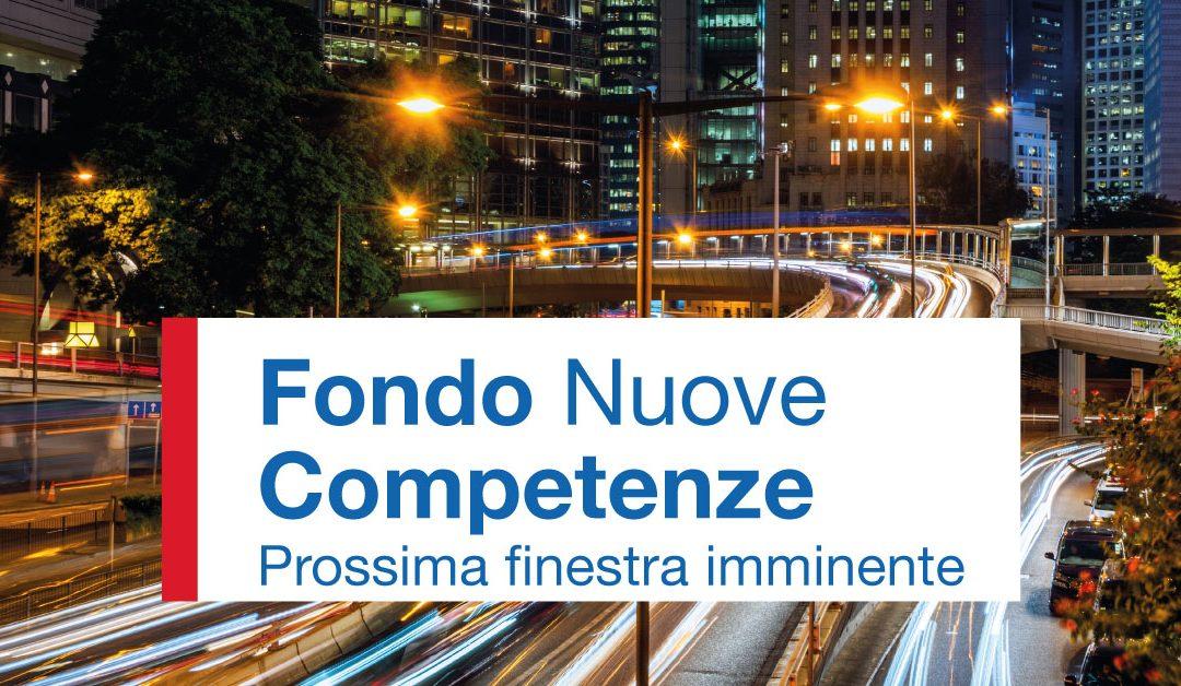 Fondo Nuove Competenze. Imminente apertura della prossima finestra per presentare i progetti
