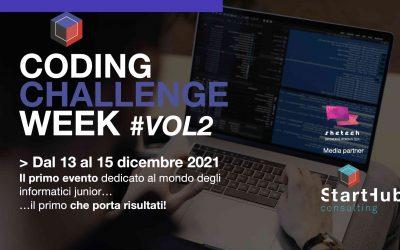 Dal 13 al 15 dicembre torna la Coding Challenge Week… Vol.2